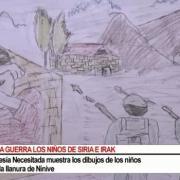 Dibujos de niños de Irak, relatan su drama [360p]