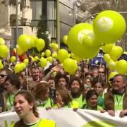 Concentración en Madrid de la plataforma Sí a la vida [360p]