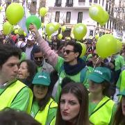 Jóvenes inundan Madrid en la Marcha Sí a la Vida [720p]