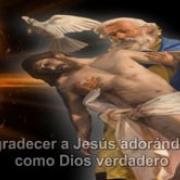 15. Agradecer a Jesús adorándole como Dios verdadero