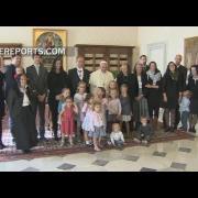 Papa se reúne con nuevo embajador de Bélgica ... y con muchos niños