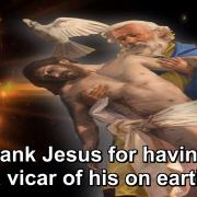 The Year of Gratitude | 42. To thank Jesus for having left a vicar of his on earth