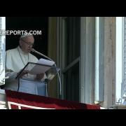 Francisco en el Ángelus pide diálogo para terminar con los recientes disturbios en Jerusalén
