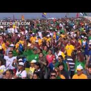 Flash mob de récord para el Papa Francisco