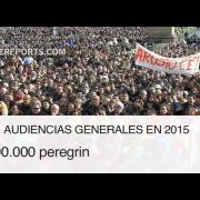 Más de 3 millones de personas han participado en las audiencias generales de Francisco