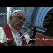 Francisco se conmueve al recordar a mujer degollada por ser cristiana