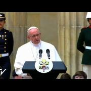 Primer mensaje del Papa en Colombia: Huid de toda tentación de venganza